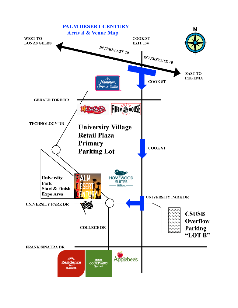 2012 PDC Arrival and Venue Map